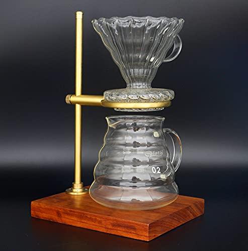 Soporte de filtro de café de cobre puro titular de la taza de filtro de café titular de filtro de mano sacador de mano titular de la taza