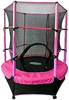 ATAA Cama elástica Infantil 140 - Rosa trampolín con una Zona de Salto de 140 centímetros, Red de Seguridad y Almohadillas de protección.