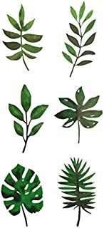 Set of 2 Waterproof Temporary Fake Tattoo Stickers Watercolor Green Plant Leaf Cool