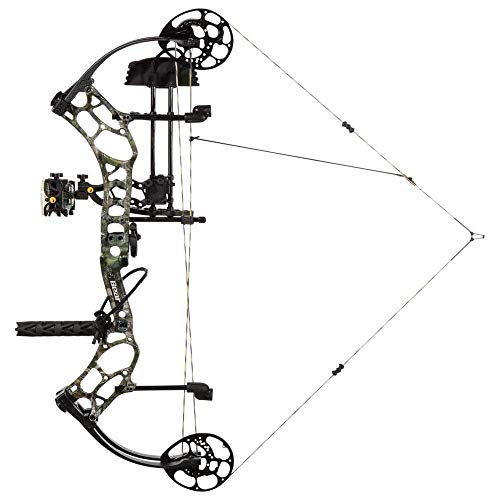 Bear Archery Threat RTH Compound Bow Package with Full Accessories (Right Hand 70 lbs, Realtree Edge)