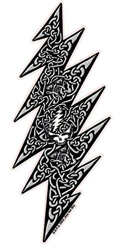 Dye the Sky Grateful Dead Celtic Lightning Bolt - Window Sticker/Decal (3.25' X 7.75')