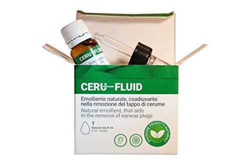 CERU FLUID - EMOLLIENTE NATURALE, RIMOZIONE TAPPO CERUME, ADATTO AD ADULTI E BAMBINI, 8 ML