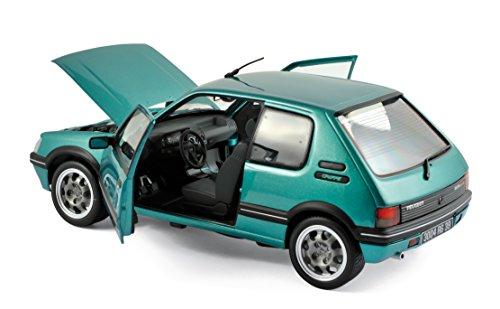 Véhicule Miniature - Peugeot 205 GTI Griffe 1.9L 1990 - Vert - Echelle 1:18 NOREV - Exclusivité Internet