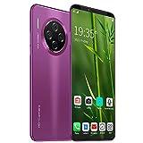 ELLENS Celulares Teléfono móvil SIM Desbloqueado Gratis, teléfono 3G Barato, 1GB RAM + 8GB ROM Smartphone, Pantalla Completa de 6.1 Pulgadas, cámara Triple (Verde/púrpura/Negro)