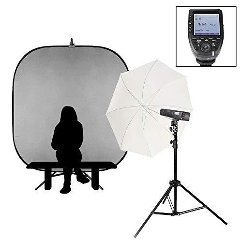 PIKA200 PRO Single School Retrato Kit de batería portátil Flash Opciones Fotografía Iluminación AD200 Pro 200Ws HSS 1/8000 Sincronización de alta velocidad (Compatible con Olympus/Panasonic)