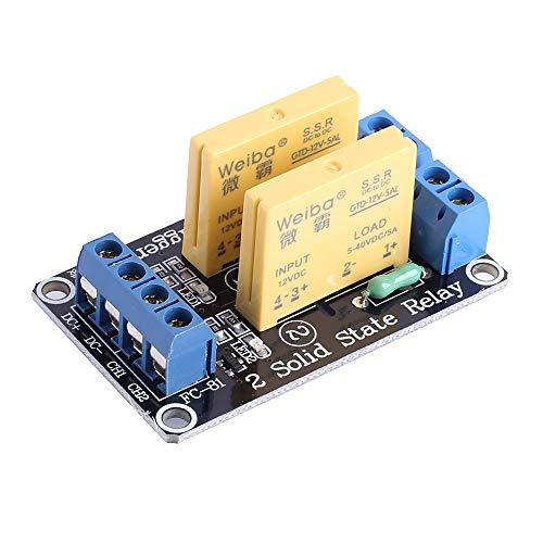 12 V de 2 Canales Relé de Estado Sólido Módulo,2 Bits Bajo Nivel Interruptor Disparo Módulo,para Control de Equipos de Automatización, Modificación de Circuito
