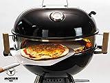 Moesta-BBQ Smokin' PizzaRing per una pizza perfetta, compatibile con barbecue a sfera da 47 cm e 67 cm di diametro