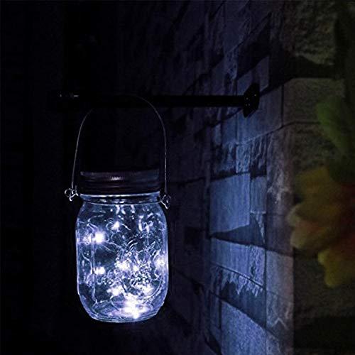 Premium Las luces LED de alambre de cobre luces de cadena luces Tapas del tarro for el partido jardín Patio Decoración de la boda de Navidad La seguridad ( Emitting Color : White , Style : 1Pcs )