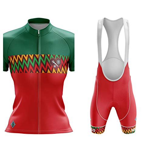 Factory8 - Country Jerseys - Love Your Country! Cycling Jerseys & Sets Collection - Team Mexico 'New Day Rising' Women's Cycling Jersey & Short Set - Jersey & Short Set - L