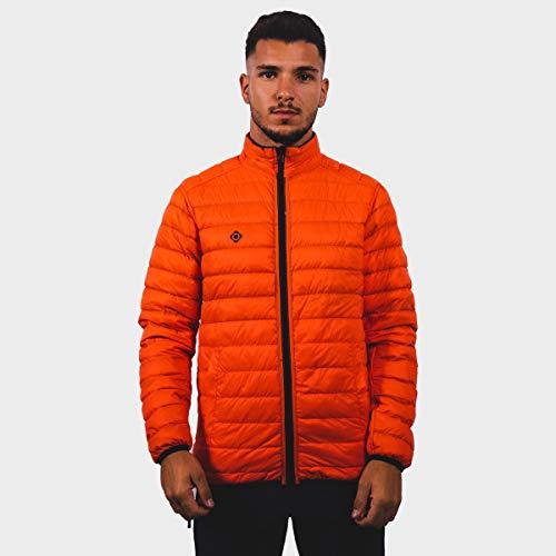Izas Chaqueta Plumas Reversible Abrigada y Ligera Modelo Perth para Hombre - 2 Colores (Navy/Orange, M)