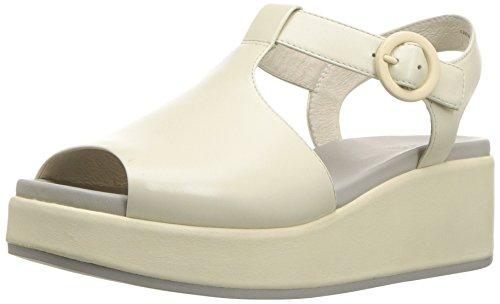 CAMPER Damen Misia K200568 Keilabsatz-Sandale, weiß, 39 EU