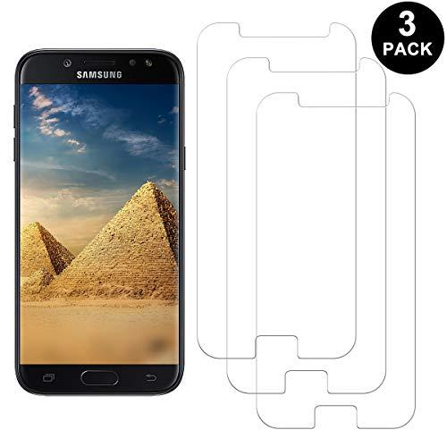 SNUNGPHIR Samsung Galaxy J7 2017 Protector Pantalla, Cristal Templado para Samsung Galaxy J7 2017, Anti-arañazos, Anti-Huella Digital, Sin Burbujas, 3 Unidades