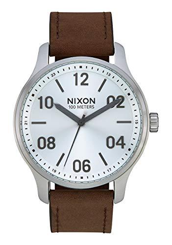 Nixon Unisex Erwachsene Analog Quarz Uhr mit Leder Armband A1243-1113-00