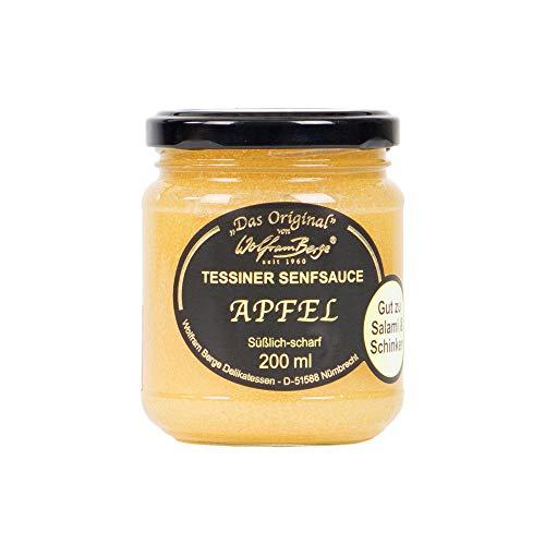 Wolfram Berge Original Tessiner Apfel-Senfsauce - Feinkostsauce aus Apfelzubereitung mit fein-scharfem Senfgeschmack., 3er Pack (3 x 200 ml)