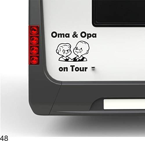 Pegatina Promotion Oma&Opa on Tour lustige Seniorenca 30cm Hochwertiger Wohnmobil Aufkleber Camper Wohnwagen Womo Mobile Home Camping Aufkleber UV beständig wetterfest