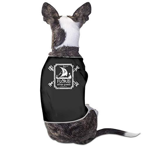 Florasun Floki's Shipyard, ropa de mascota, camisa de perro para gatos y perros pequeos, chaleco, ropa de cachorro, disfraz-Black-S