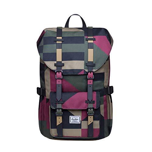 KAUKKO Laptop-Rucksack für unterwegs, für 15,6 Zoll (39,6 cm) Laptops