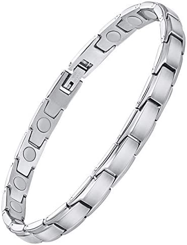 Feraco Magnetic Bracelet for Women Arthritis Pain Relief Sleek Stainless Steel 3500 Gauss Strong product image