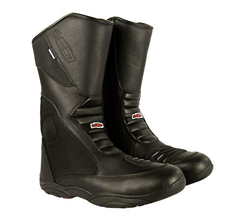 Zerimar Botas Piel Moto | Botas Moto | Botas Motocicleta de Cuero | Botas de Moto Proteccion (Negro-Noche, 42)
