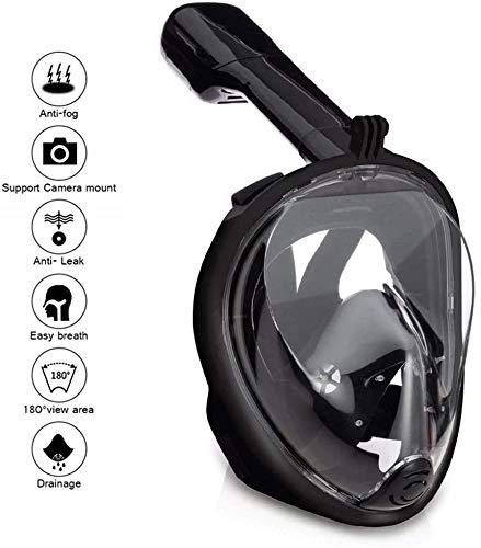 Wsobue Máscara de Buceo, Gafas Snorkel 180° Panorámica Vi