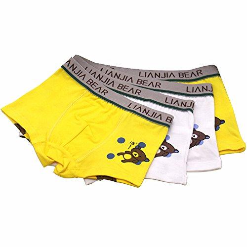 4 PCS Muchachos de la Ropa Interior,GZQES, Pantalones de los Niños del Algodón,Ropa Interior Infantil Tamaño 2-10 años,Color Azar