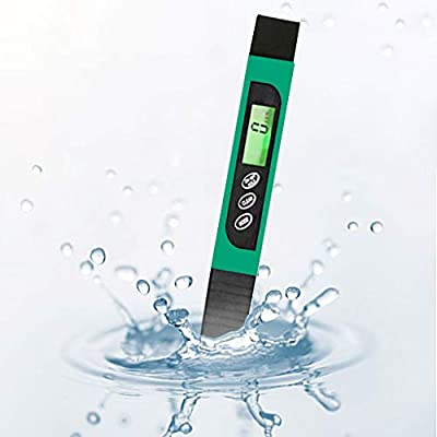 Denzar ???? ????Portable Digital TDS Meter and PH Meter,Water Quality Tester with Auto Calibration Button,TDS PH EC Temperature 4 in 1 Set,Ideal for Household Drinking Water,Hydroponic,Aquariums (Green)