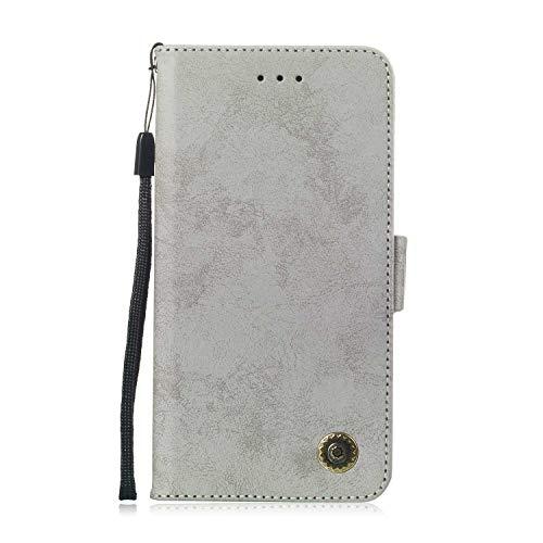 Galaxy S9 Hülle, DENDICO Premium Brieftasche Leder Wallet Tasche für Samsung Galaxy S9, Handy Schutzhülle Tasche Flip Etui - Grau