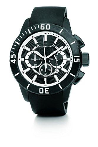 Folli Follie Olyteus Chronograph Steel Black Dial Men's Watch