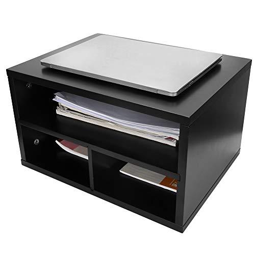 AYNEFY Druckerständer aus Holz, Schreibtischständer aus Holz für Drucker und Faxgeräte mit 2 Ebenen, Druckerständer für Büro, Schreibwaren, 40 x 30 x 23 cm
