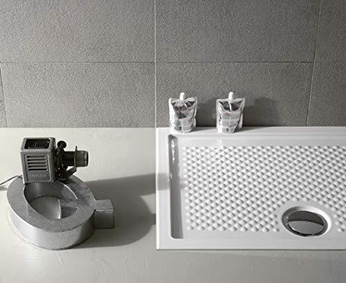 Plato de ducha de cerámica mod. Docciaviva 70 x 120 h 6,5 cm art. DV121.BI