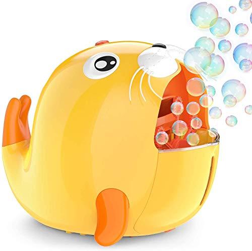 1 BY ONE Máquina de burbujas para niños con forma de foca,...