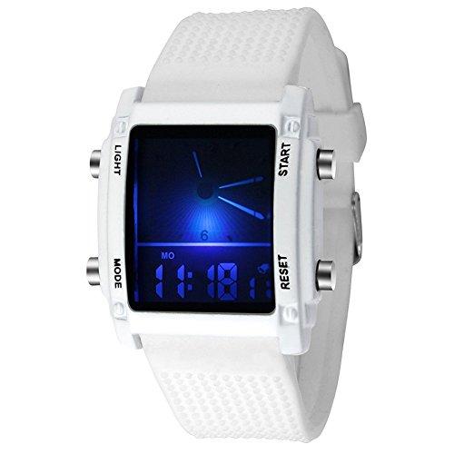 Ogquaton Premium Qualität Unisex Frauen Männer Sportuhren Datum Digital Quarz LED Elektronische Uhren Business Armbanduhr Geschenk