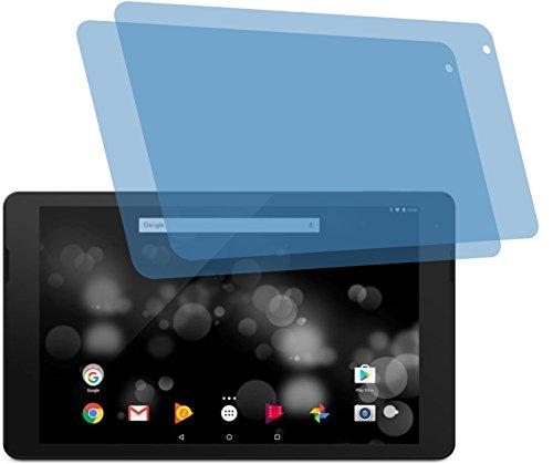 4ProTec I 2X Crystal Clear klar Schutzfolie für Trekstor PRIMETAB P10 Bildschirmschutzfolie Displayschutzfolie Schutzhülle Bildschirmschutz Bildschirmfolie Folie