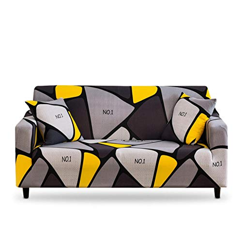 Vlejoy Universal Cubre Sofas Ajustables Funda Elástica para Sofá Funda para Sillón Funda para Sofá Fundas para Sofá Elásticas Fundas Geométricas para Sofá-3 Plazas (190-230cm) _Color-X