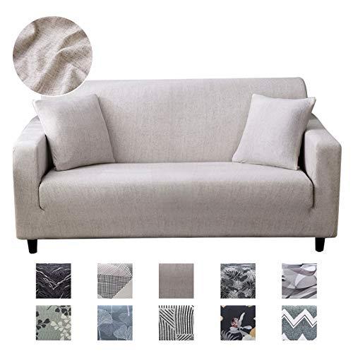 Joydream 1 x Stretch-Sofabezug, rutschfest, elastischer Möbelschutz für Sessel/Couch, weicher Stoff, Sofabezug mit 1 Kissenbezug (groß, einfarbig)