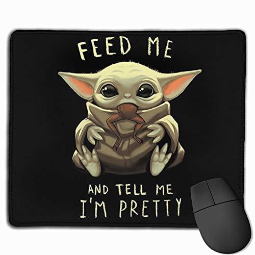 TUCBOA Büro Mausmatte,Spiel Mauspad,Matte Mit Genähten Kanten,Mousepads Für Computer,Master-Baby-Yoda-Darth-Vader-Star-Wars-Mauspad Für Laptop, Desktop-Computer