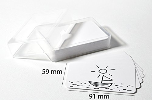 Blanko-Spielkarten, 91 x 59 mm, 55 Stück im Kunststoffetui