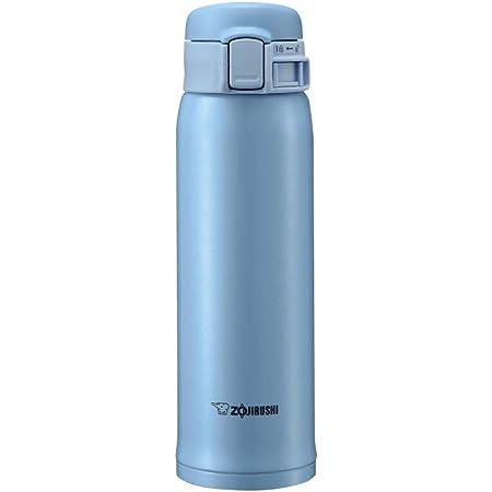 象印マホービン(ZOJIRUSHI) 水筒 ステンレス マグ ボトル 直飲み 軽量 保冷 保温 ワンタッチ オープン タイプ 480ml ライト ブルー SM-SE48-AL