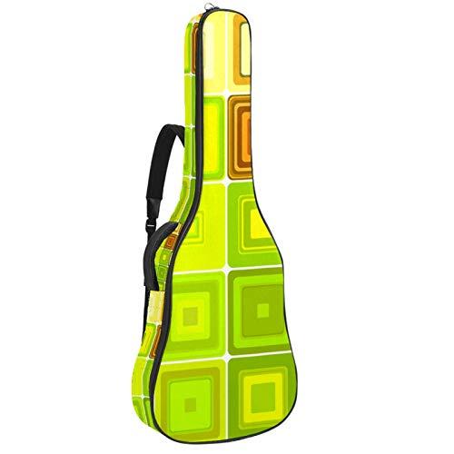 Bolsa de guitarra reforzada con esponja gruesa demasiado acolchada, funda para guitarra, cuna para el cuello,Guitarra clásica acústica, mosaico geométrico