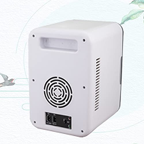Mini refrigerador Negro portátil Puede Enfriar o Calentar Productos para el Cuidado de la Piel, bocadillos o 9 latas para Proporcionar Espacio de Almacenamiento Compacto