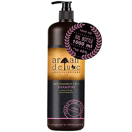 Argan Deluxe Anti-Schuppen Shampoo in Friseur-Qualität 1000 ml - Hilfe gegen Schuppen und juckende Kopfhaut