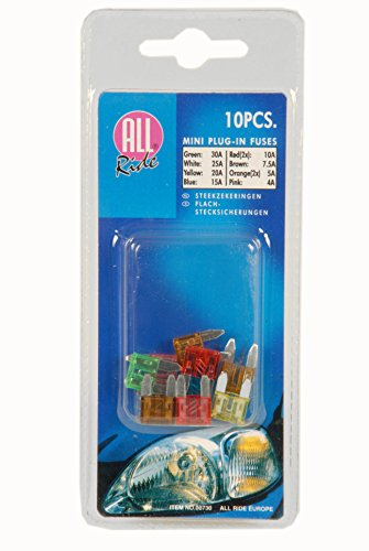 All Ride 871125239193 Micro Blade Fuses Pack of 6
