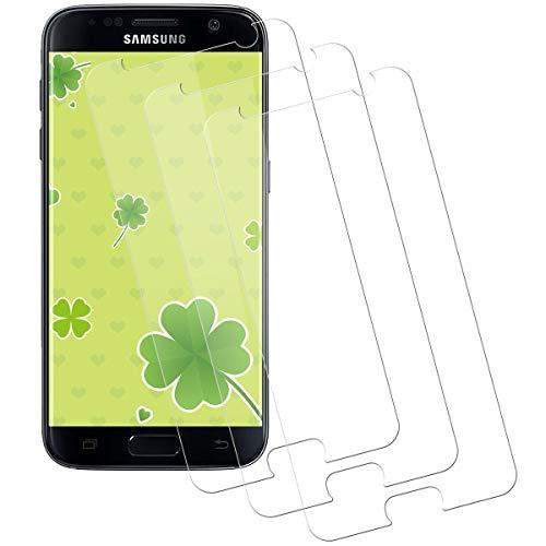 Miuphro Cristal Templado Compatible con Samsung Galaxy S7 [3-Unidades], Protector de Pantalla Samsung Galaxy S7, [2.5d Borde Redondo][Fácil Instalación][Alta Definicion][9H Dureza]