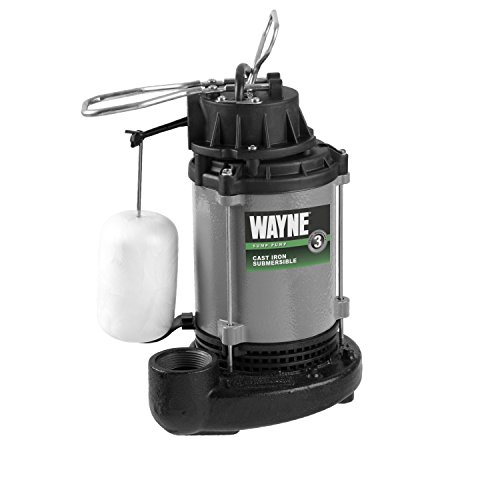 WAYNE CICDU800 1/2 HP Heavy Duty Cast Iron Submersible Sump Pump