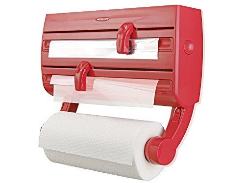 Leifheit 2046398, Dispensador de Soporte de Plástico Parat F2, Rojo
