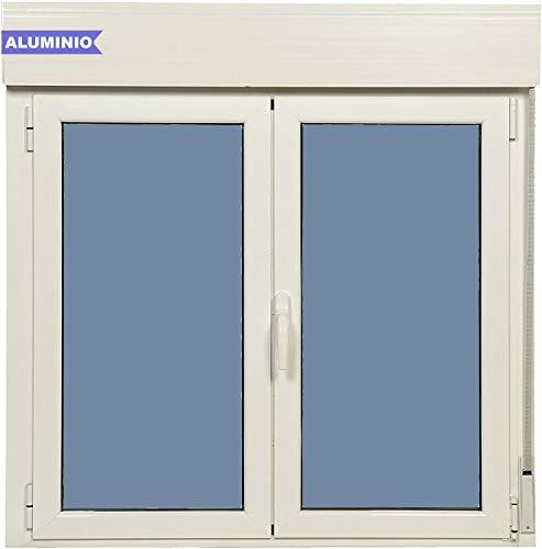 Ventana Aluminio Practicable Oscilobatiente Con Persiana PVC 1000 Ancho x 1155 Alto 2 hojas