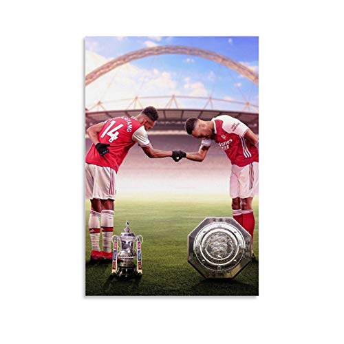 SHADIAO Aubameyang A Key Player of Arsenal Club NO.14 Poster Decorative Painting Canvas Wall Art Living Room Posters Bedroom Painting 16x24inch(40x60cm)