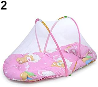 Mosquito Net - Foldable Portable Infant Baby Travel Mosquito Net Crib Bed Tent With Pillow - Room Rainfly Porch Military Babies Attach Black Hammock Lace Tent Malaria Ring Prices Backpacker