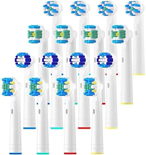 Replacement Brush Heads for Oral B, 16 Pcs Compatible with Oral B Pro1000 Pro3000 Pro5000 Pro7000