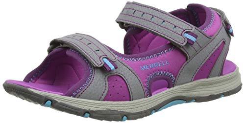 Merrell Panther Sandal 2.0, Sandalia con Pulsera Unisex Niños, Rosa (Grey), 36 EU